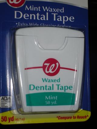 Mint waxed dental tape