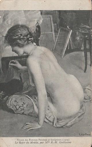 Vintage Used Postcard: Pre Linen: Model