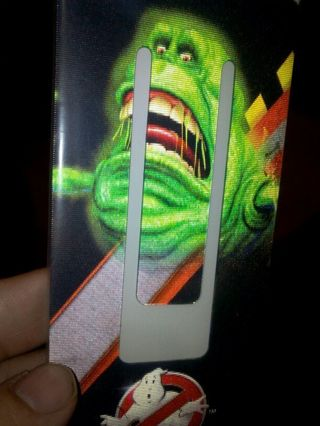 Ghostbusters book mark with code for 2 cartoon shows
