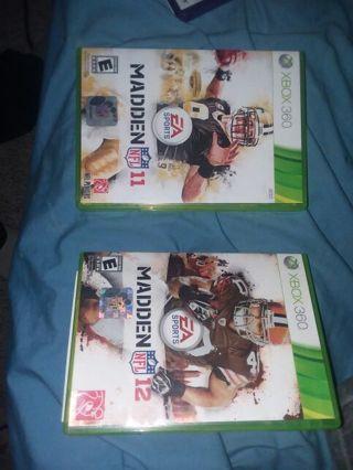 Xbox 360 Choice od madden 11 or 12