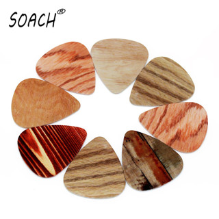 SOACH 10pcs Newest Wood grain bass guitar picks mediator Thickness 0.46mm acoustic Guitar plucked