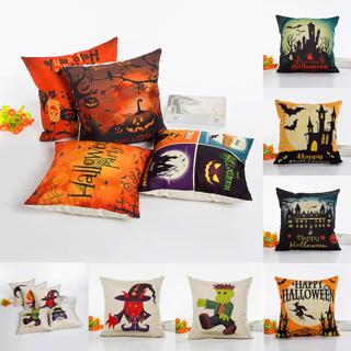 Halloween Sofa Waist Bed Home Decor Cotton Throw Pillow Case Soft Cushion Cover