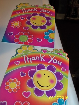 2 Thank You Cards