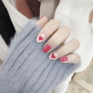 10 Style Optional Fake Nails 24PCS/set Simple Lattice Style Finished False Nail Lady Full Nail Tip