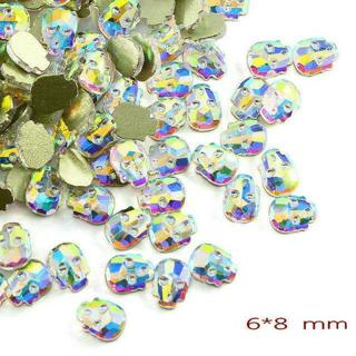 10-100x 3D Nail Art Rhinestone Flat Glass AB Colorful Crystal Decor DIY Jewelry!