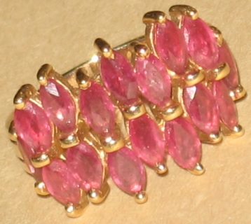 14k vintage ruby ring sz 5