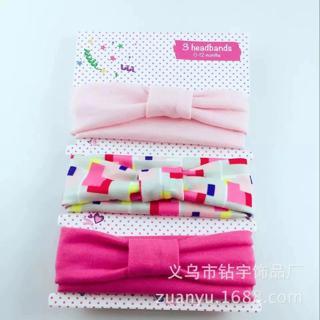 3Pcs/LotNewborn Baby Bows Headbands Nylon Headbands For Baby Girls Head Wear Toddler Soft Stretchy
