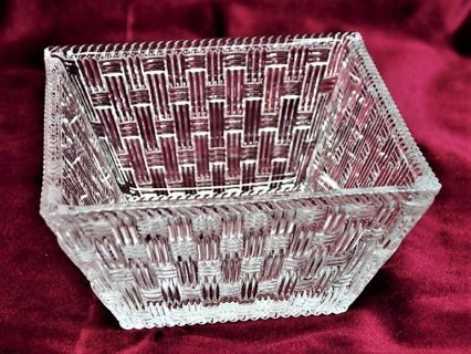 Authentic Tiffany & Co Crystal Weave basket