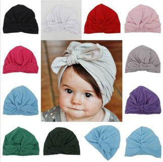 Baby Girls Turban Knot Head Wrap Cute Kids Rabbit Ear Hat Bunny Ear Cotton Cap