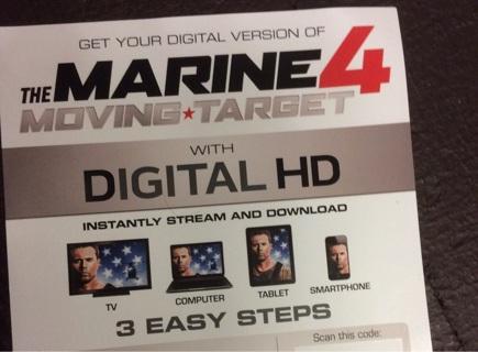 Digital HD Ultraviolet of The Marine 4 Moving Target