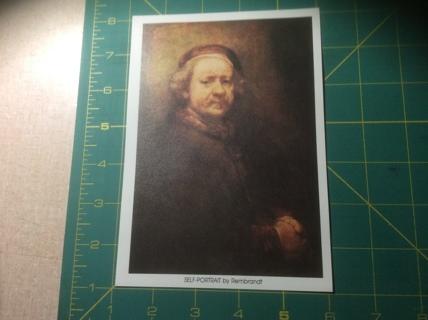 Self-Portrait by Rembrandt Small Art Print
