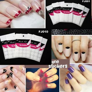 1 piece French Manicure Nail Art Form Fringe Guides Sticker DIY Stencil Decal Decoration Tools 18