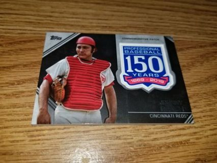 2019 Topps Baseball Johnny Bench 150th Anniversary Patch card,VG condition,Free Shipping!