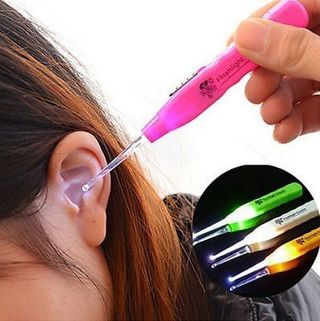 Hot LED Light Earpick Clean Wax Remover Cleaner Picker Ear Pick Curette Tool