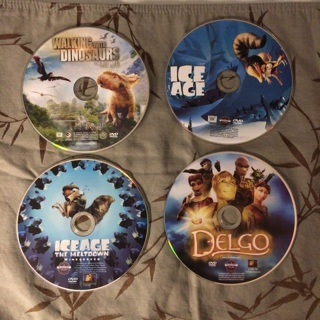 Ice Age, Ice Age the Meltdown, Walking With Dinosaurs, and Delgo