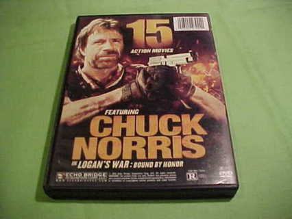 15 Action DVD Movies-22 Hrs-Chuck Norris  Logan's War: Bound By Honor -2 Discs-Like Brand New!!