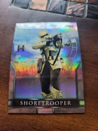 2018 topps finest star wars refractor Shoretrooper