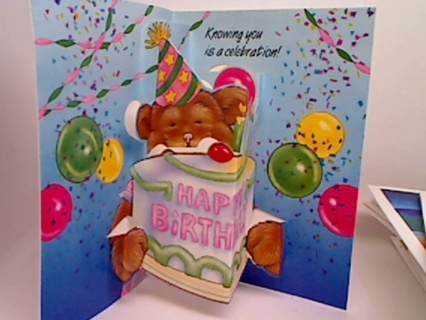 Free Happy Birthday Pop Up Card With Envelope Scrapbooking