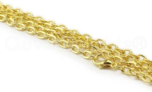 GP 4x6mm Cable Chain Necklace Lot 9 (PLEASE READ DESCRIPTION)