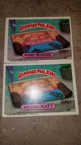 HUGE LOT OF ORIGINAL OLD GARBAGE PAIL KID CARDS.PLEASE SEE ALL PICTURES