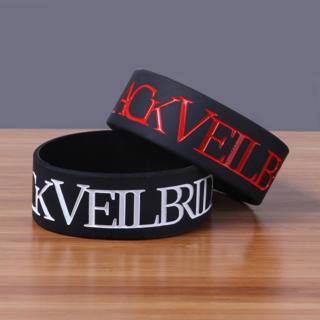 BVB black veil brides Wrist Band Bracelet Music Band HOT TOPIC Emo Metal punk accessories jewelry