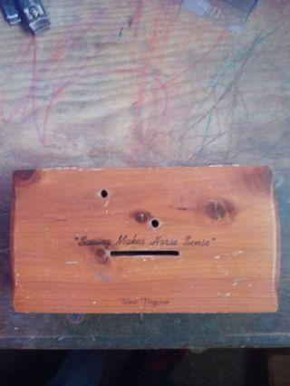 Wooden Piggy Bank--West Virginia