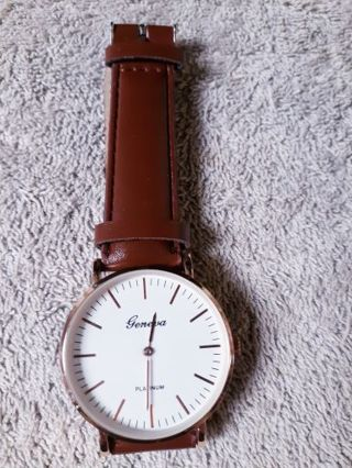 Men Or Women's Brown Geneva Watch Brand New