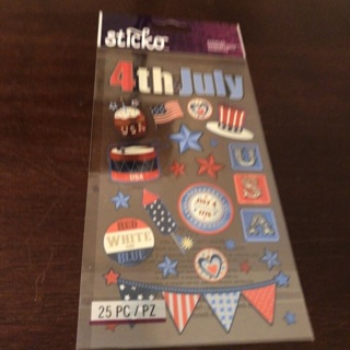 Sticko July 4th stickers