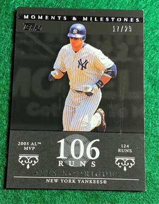 Alex Rodriguez #d/29 Topps moments and milestones
