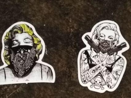 Tattooed Marilyn Monroe stickers 2