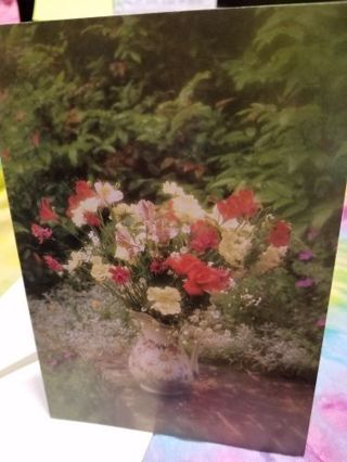 FLORAL BIRTHDAY CARD W/ A LOVELY SENTIMENT, COMES WITH A ENVELOPE