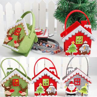 Merry Christmas Candy Bag Gift Bag Snowman Reindeer Christmas Decorations