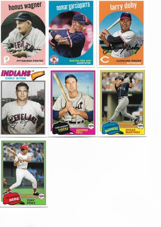 (7) 2018 Topps Archives Baseball Stars Hall of Famers