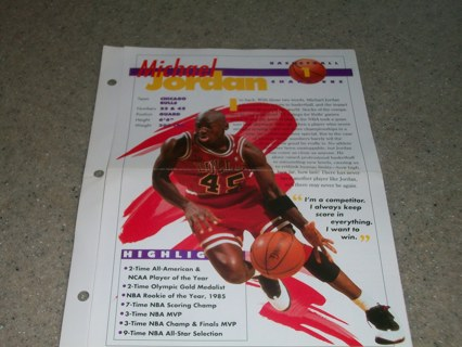 FREE Michael Jordan Sports Collector Fact Sheet