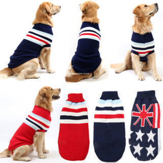 Big Dog Pet Cat Puppy Warm Knit Coat Clothes Sweater Jacket Vest Apparel Costume