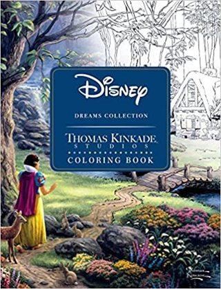 Disney Dreams Adult Coloring Book by Thomas Kinkade