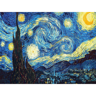✿Free Shipping✿ DIY 5D Diamond Van Gogh Starry Night 30x25cm x1pc