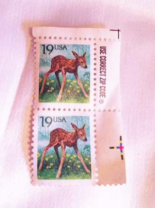Free: Lot of 2 - 19 cent Deer Stamps - Calling all Stamp