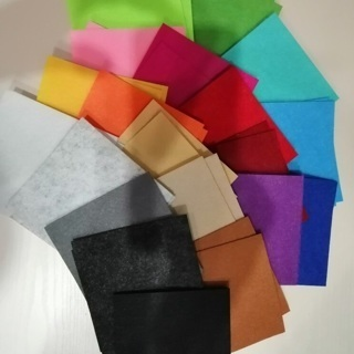 [GIN FOR FREE SHIPPING] 40Pcs Colorful Non Woven Felt Fabric Polyester Cloth DIY Bundle