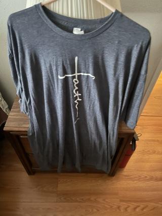 3x New Faith t shirt