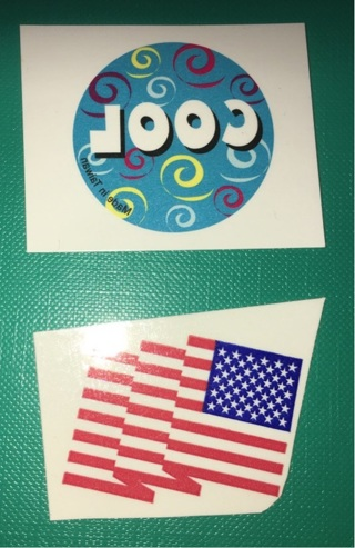 Set of 2 Cool / USA American Flag Temporary Tattoos