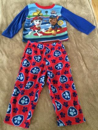 Toddlers 4T Patrol Paw pajama set