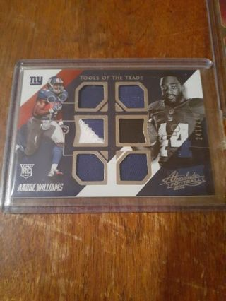Andre Williams 6 patch #'d relic
