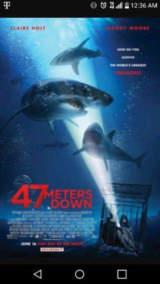 47 meters down hd Vudu/uv code