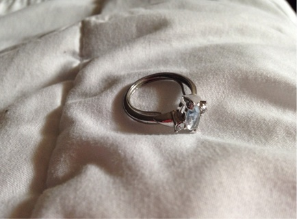 Sterling Silver Diamond Ring – Fitted To A Size 7