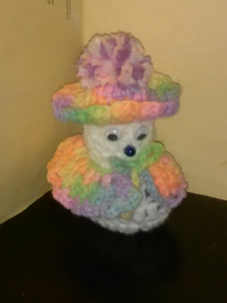 Crochet Snow Lady (B-1382) Pastel Verigated
