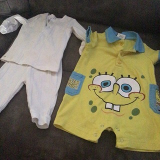 Bunch of baby boy clothes