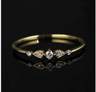 40% OFF! Women 5-Stone Ring Cubic Zircon Inlay Statement Rings
