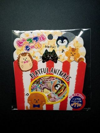 """~Kawaii~ Mind Wave """"Playful Animals"""" Sticker Sack **Only One, Available!!**"""