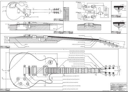 free les paul style guitar templates instruments accessories